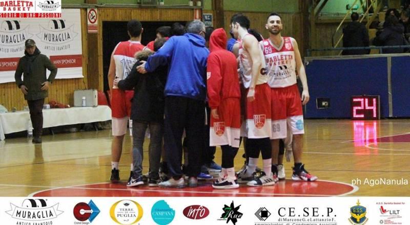 Il Frantoio Muraglia Barletta Basket fa poker. Biancorossi corsari a Foggia 73-78