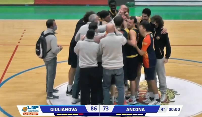Il Giulia Basket Giulianova apre il girone di ritorno contro la Campetto Stamura Ancona