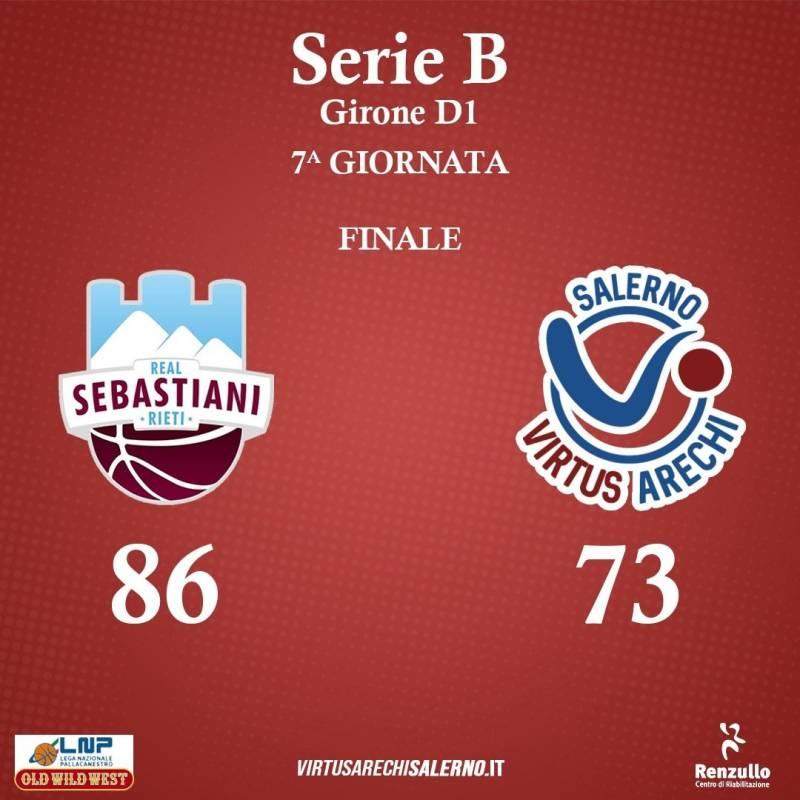 Virtus Arechi Salerno sconfitta della capolista Rieti
