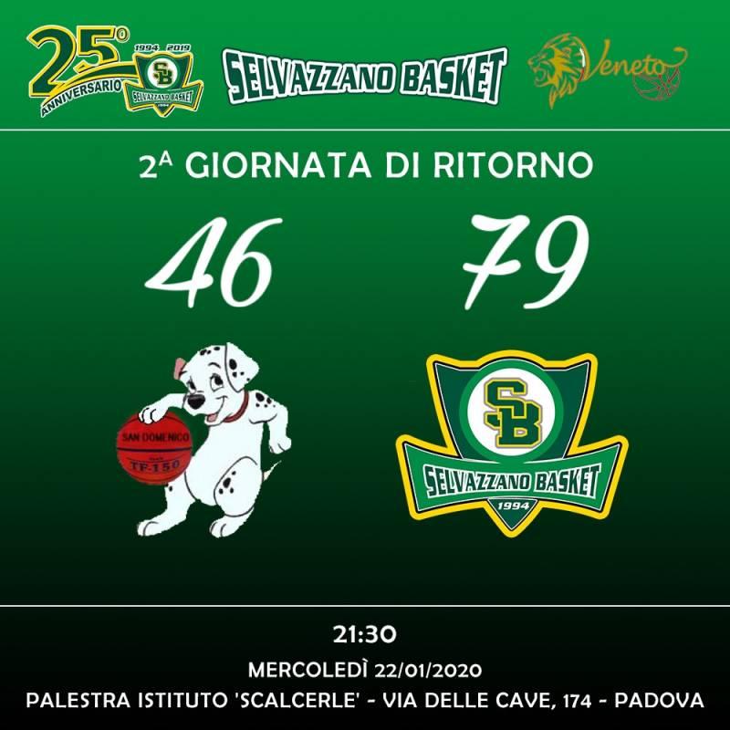 San Domenico vs Selvazzano Basket