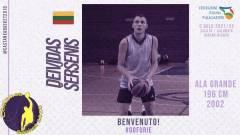 Altro giovane talento per la societa messinese: Deividas Šeršenis