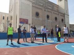 A Bari i campi da basket del futuro in gomma riciclata