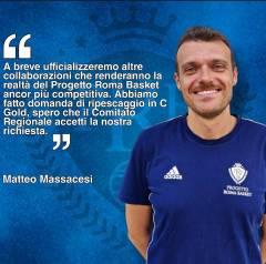 I piani futuri del Progetto Roma Basket: le parole di Matteo Massacesi