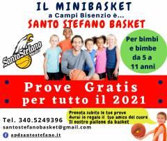 Successo di adesioni per il Minibasket di APD Santo Stefano