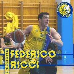 Federico Ricci rimane con i Fiorenzuola Bees anche per il 2020/2021