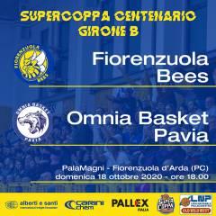 Fiorenzuola Bees: la Supercoppa Centenario 2020 riprende in casa a porte chiuse. Al PalaMagni arriva Omnia Basket Pavia.