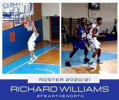 PIZETA PLAYBASKET INSERISCE IL GIOVANE 2002 RICHARD WILLIAMS NEL ROSTER DI C SILVER