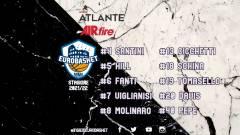 Ufficiali i numeri di maglia dell'Atlante Eurobasket Roma 2021/22