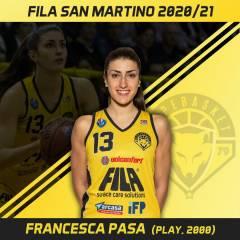 Seconda stagione in A1 col Fila per Francesca Pasa