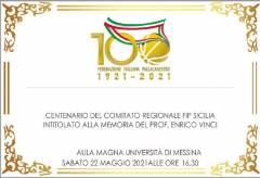 Sarà la Città di Messina ad ospitare Sabato 22 maggio il Centenario della FIP