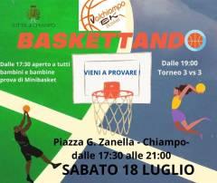 Logo Baskettando in Piazza Valchiampo 2020